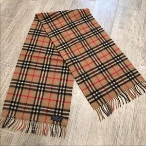Vintage Burberry Auth Cashmere Check Scarf